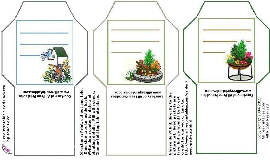 image regarding Printable Seed Packets identified as No cost Printable Yard Seed Packets